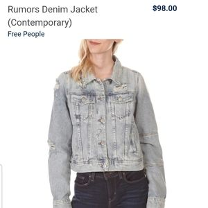 NWT Free People Rumors Denim Jacket (Contemporary)